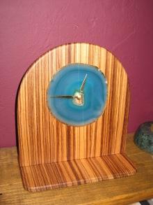 Zebrawood Clock