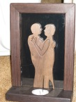 Woods: Wenge frame and Walnut figures This is a silhouette of my parents dancing. :)