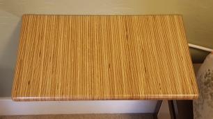 "Nightstand using the edge grain of 1"" Russian Birch plywood."